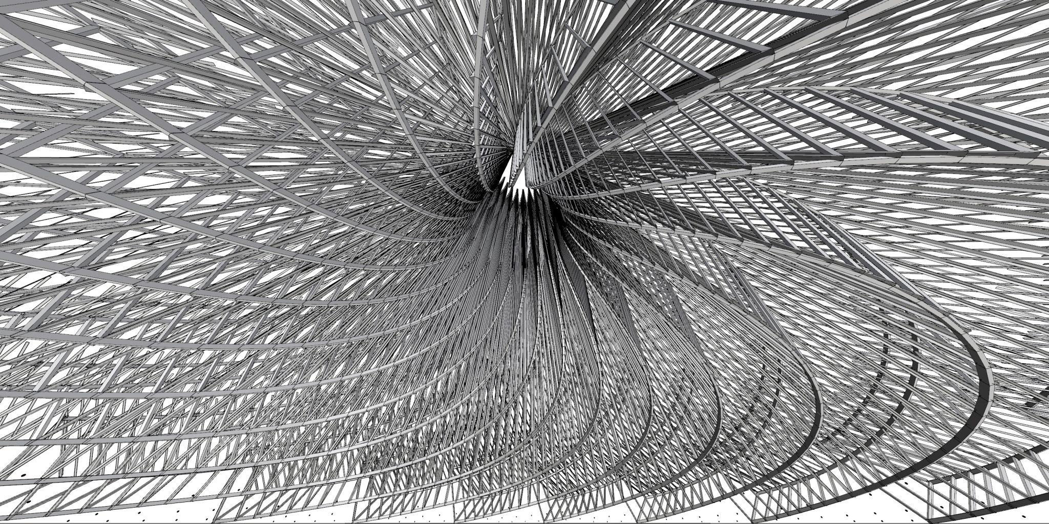 Galaxia - Burning Man Temple 2018 - Interior View