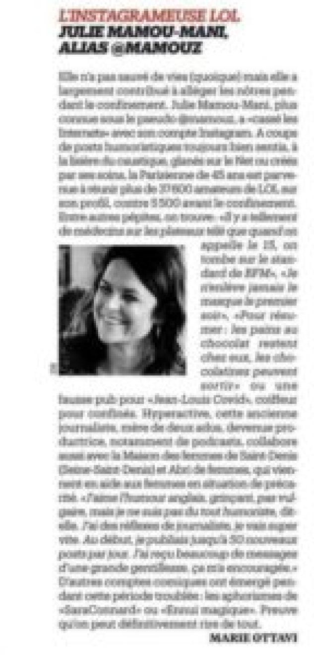 Libération article sur @mamouz