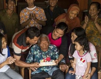 World's oldest man Mbah Goto celebrates what he claims to be his 146th birthday