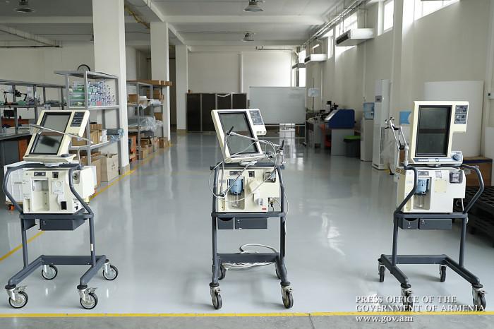 Վարչապետը ծանոթացել է թոքերի արհեստական շնչառության սարքերի վերանորոգման աշխատանքներին