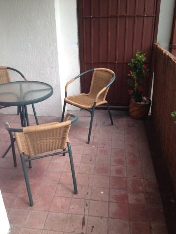 balkon przed remontem