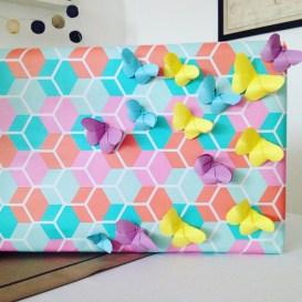 jak zapakować prezent dla dziecka - motylki origami