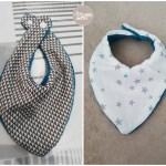 Tuto couture : Le bavoir-bandana à faire soi-même