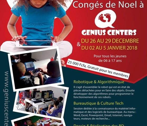 Congés de Noël 2017 à Genius Centers