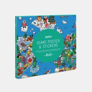 Poster Geant Stickers Atlas – Omy
