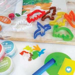 Kit de pâte à modeler naturelle Dinosaure- Wonderdough