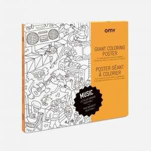 Poster géant à colorier Music- Omy