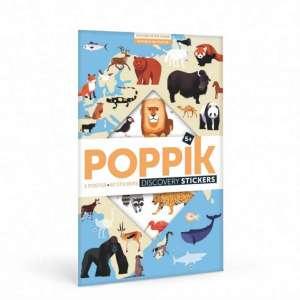 Poster stickers Animaux du monde – Poppik