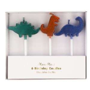 6 Bougies dinosaures – Meri Meri