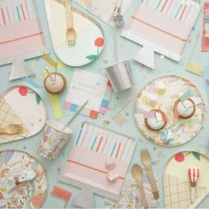 8 Assiettes Happy doodle – Meri Meri