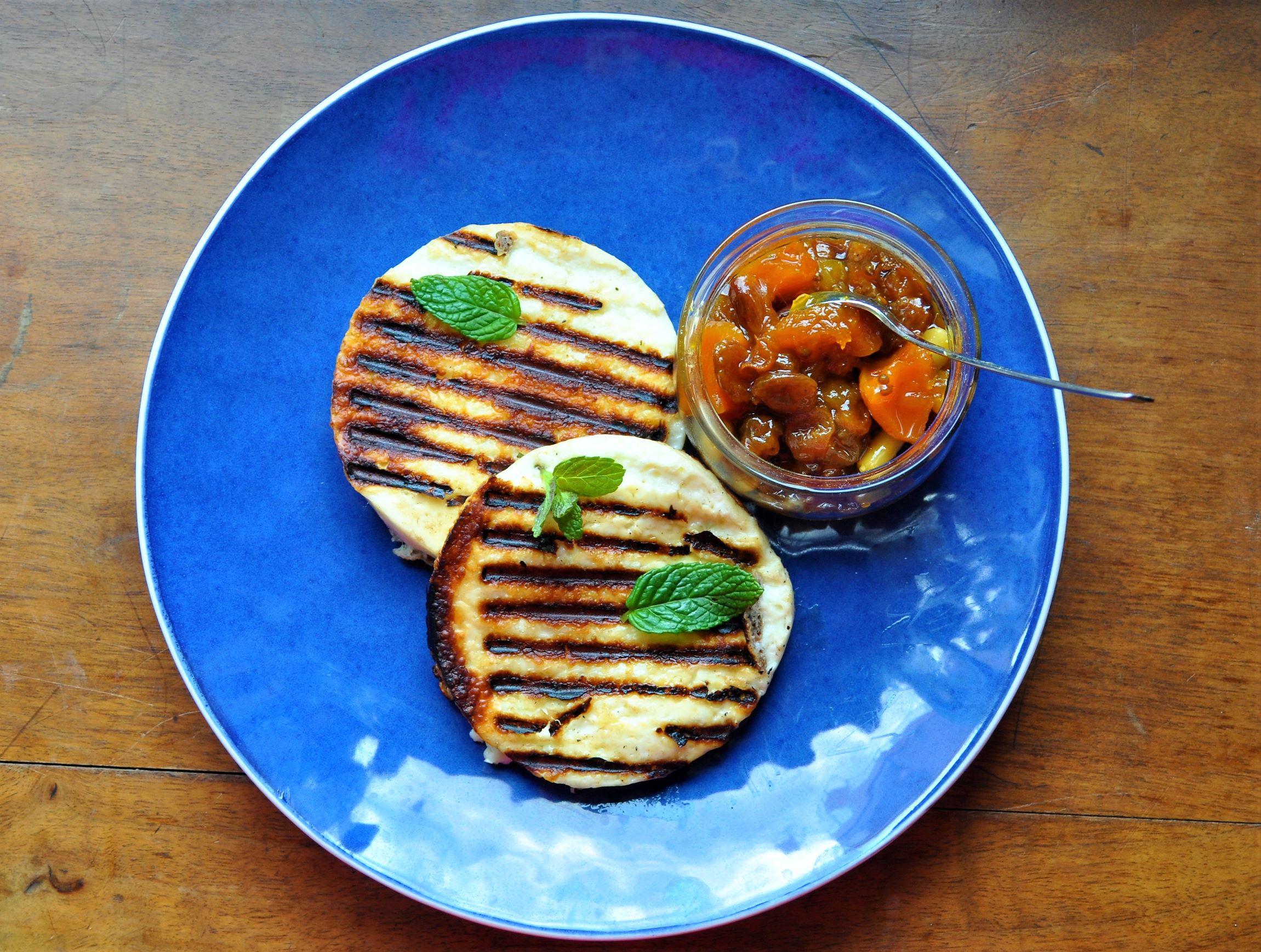 Grilled Talagani with chutney