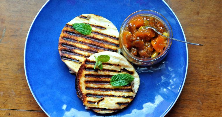 Grilled Talagani with chutney