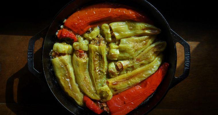 Γεμιστές πιπεριές κατσαρόλας
