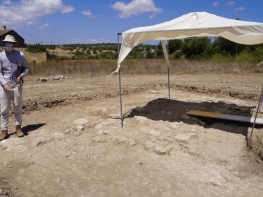 La nova cala excavada.
