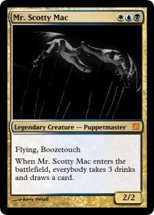 MrScottyMac, Booze Cube card