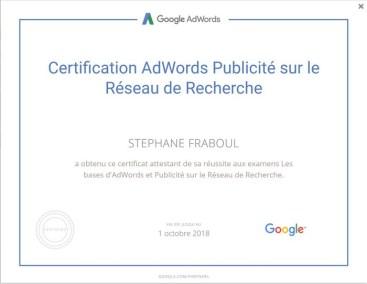certification adwords - FRABOUL Stephane