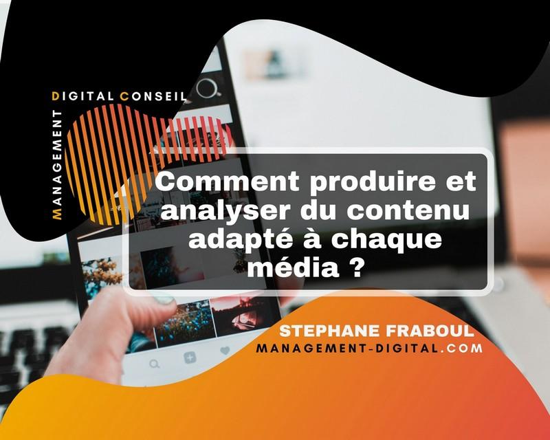 image illustrant la création et production de contenu