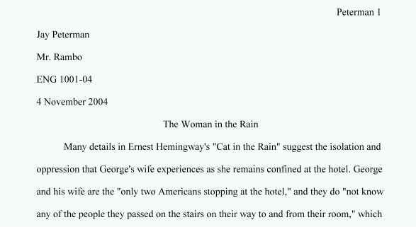 Opening sentence for college essay