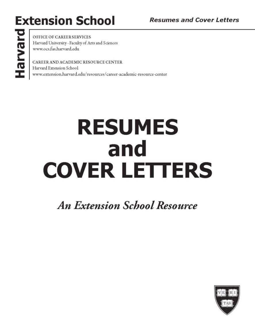 Harvard Business School Resume Template Doc Resumes Cvs Cover Letters Office Of Career Services