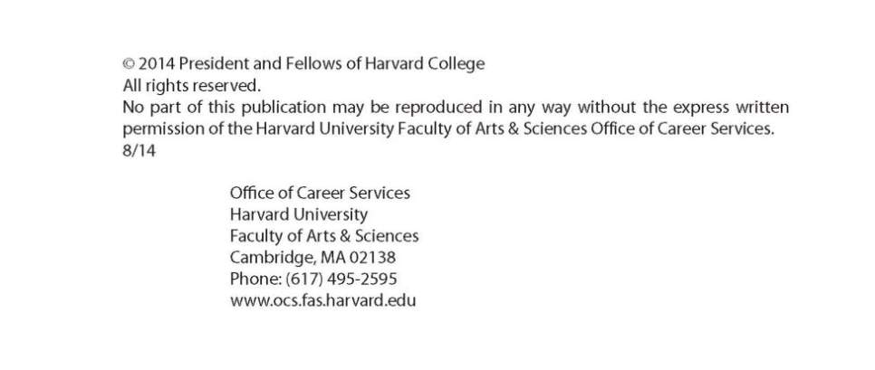 Harvard Resume Book Pdf Resumes And Cover Letters Ocs Mba 2016 2017