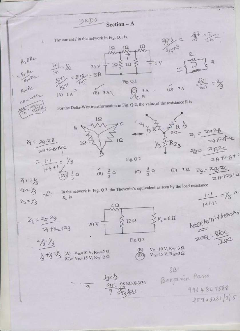 DRDO Senior Technical Assistant Exam syllabus and Question