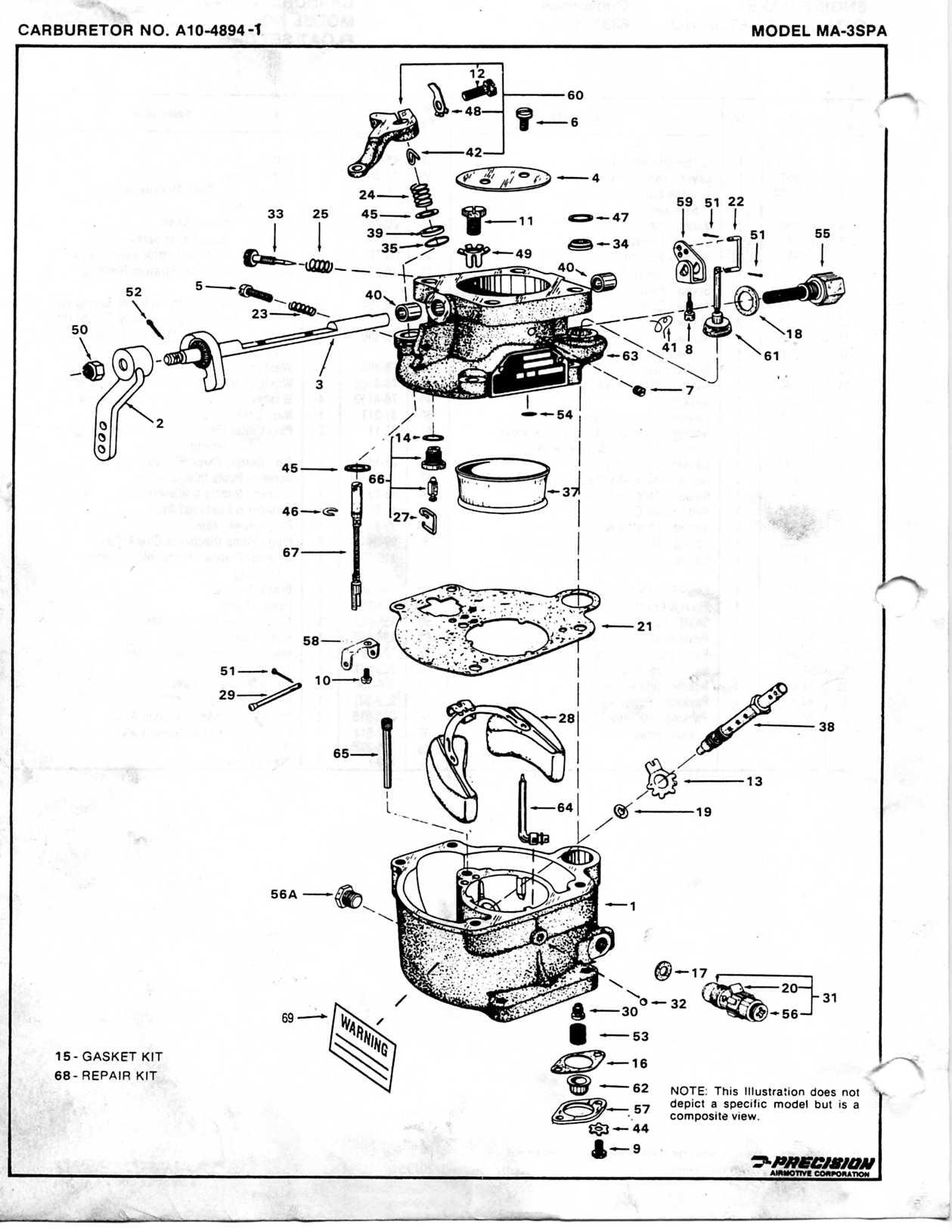 Marvel Schebler Aircraft Carburetor Service Manual