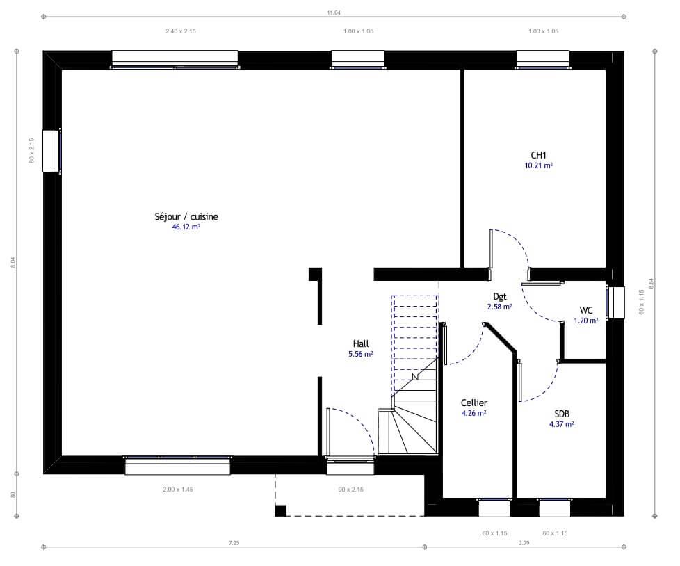 Plan Maison Individuelle 4 Chambres 04 Habitat Concept