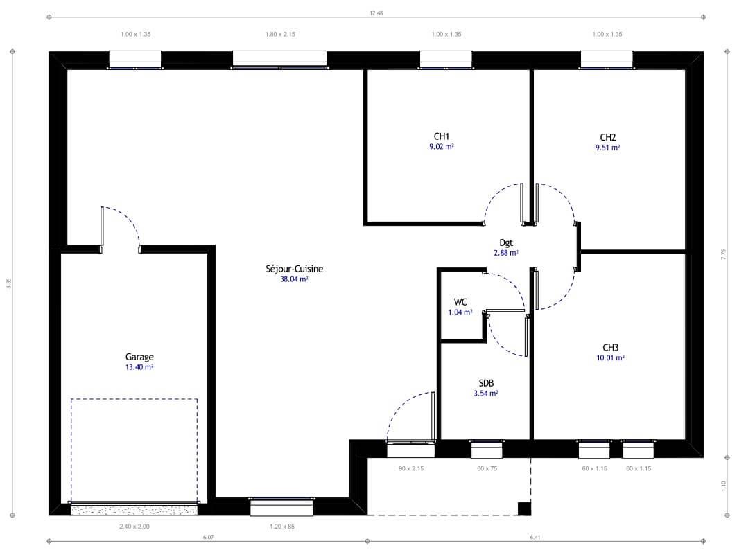 plan 1de la maison individuelle habitat concept 09