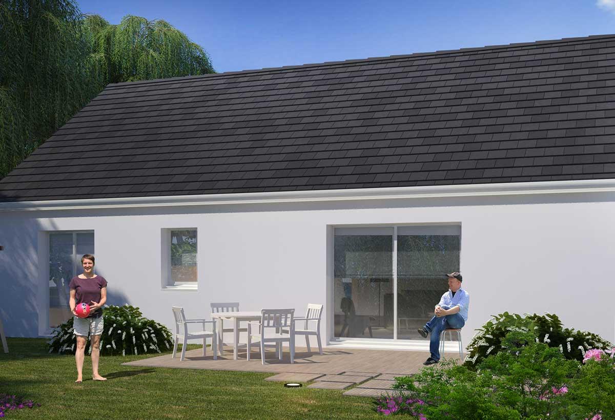 Plan Maison Individuelle 3 Chambres 90 Habitat Concept