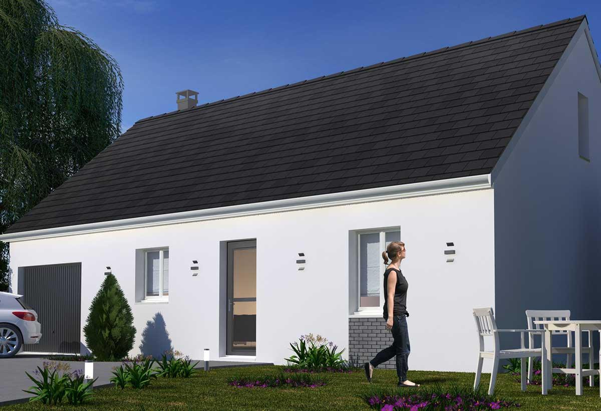Plan Maison Individuelle 3 Chambres 97h Gi Habitat Concept