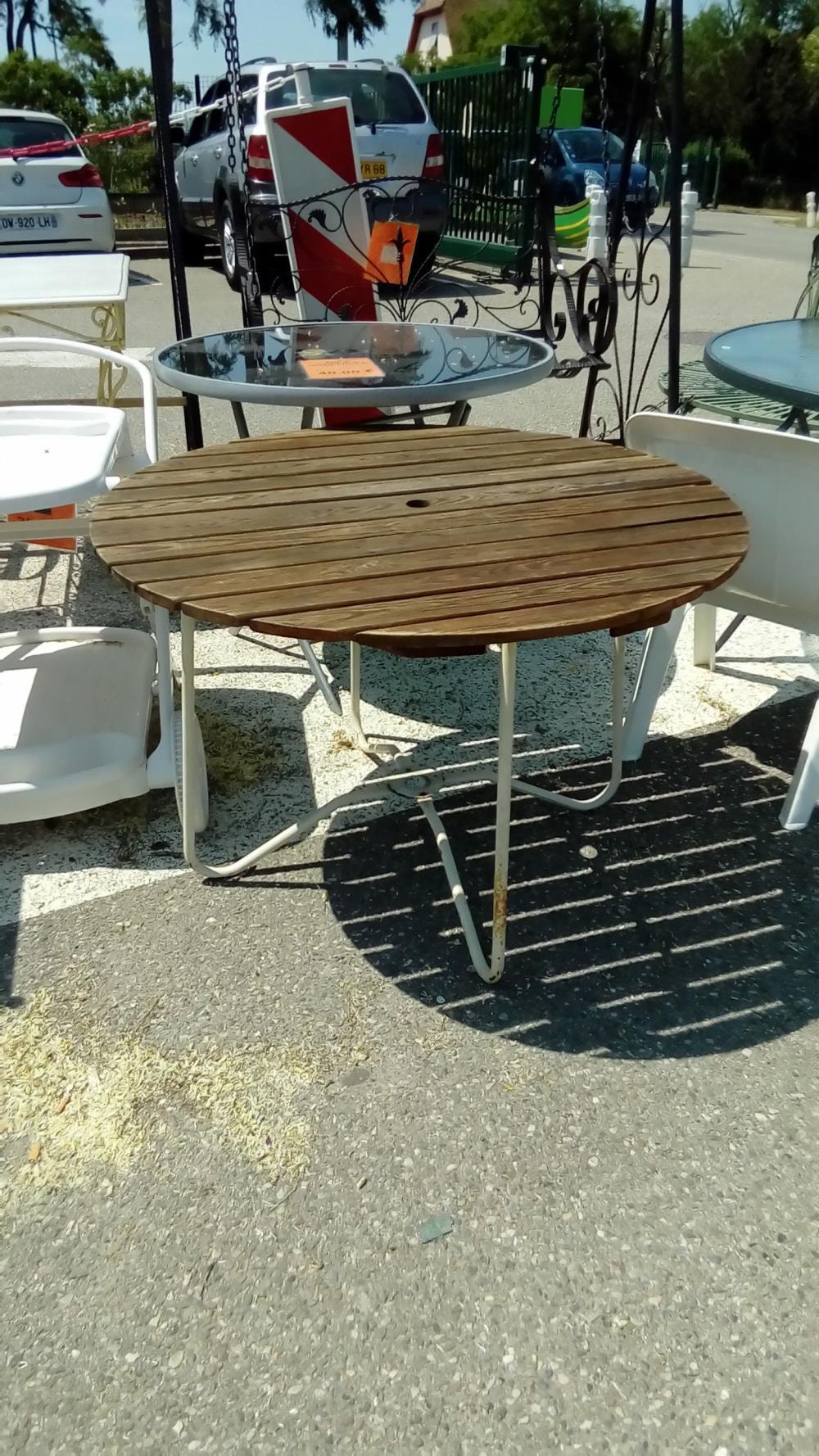 Table De Jardin Bois Metal | Table De Salon Bois Salon De Jardin ...