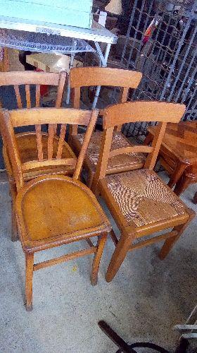 paire de chaises bistrot ou annees 50