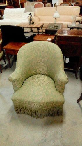 fauteuil crapaud napoleon iii tissu