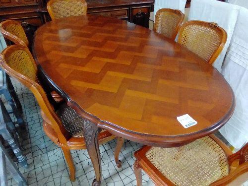 table ovale merisier lxv 2all