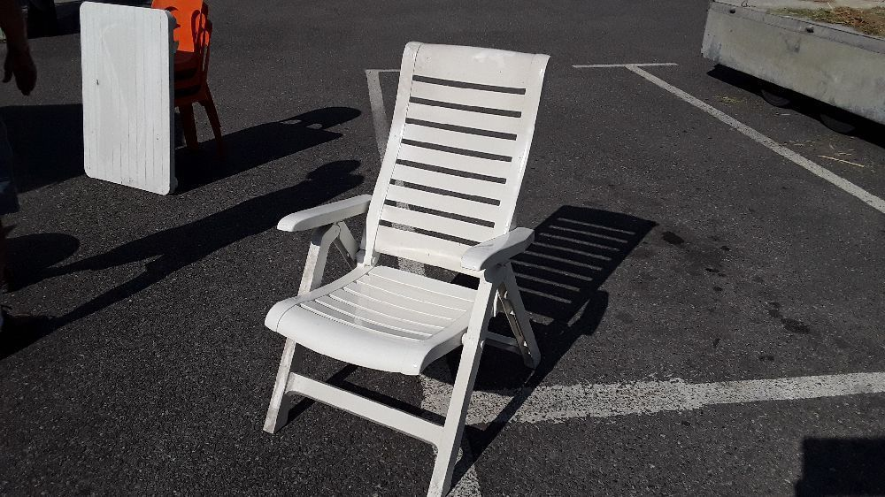 fauteuil de jardin inclinable blanc