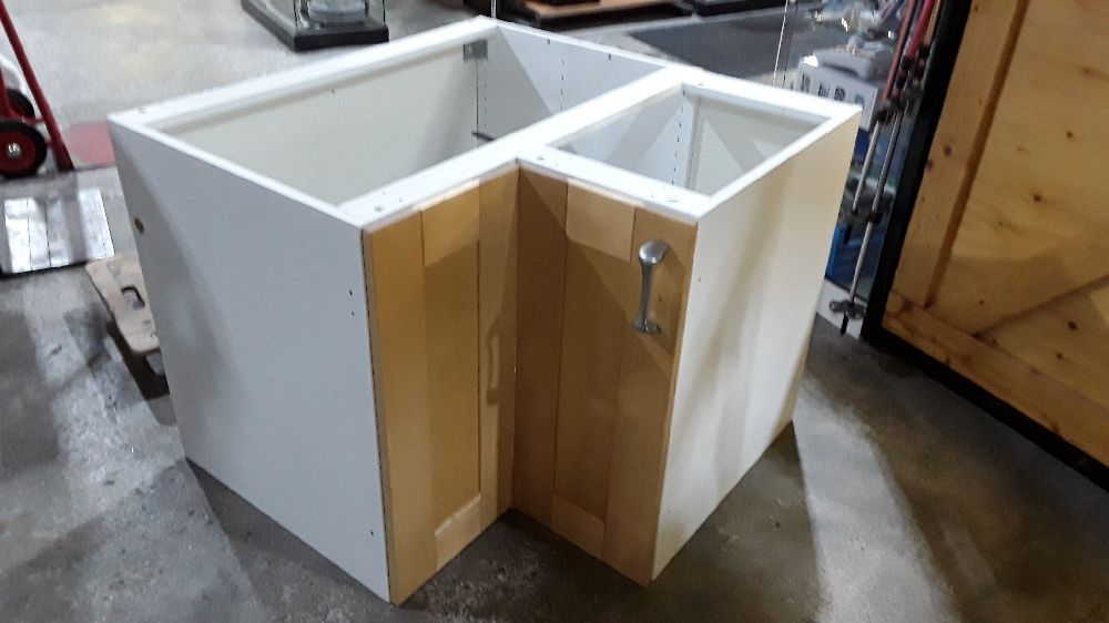 meuble d angle de cuisine avec plateau