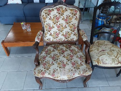 fauteuil style louis xv tissu occasion