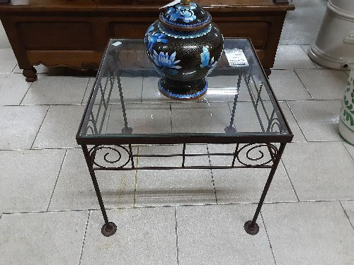 table verre fer forge occasion le