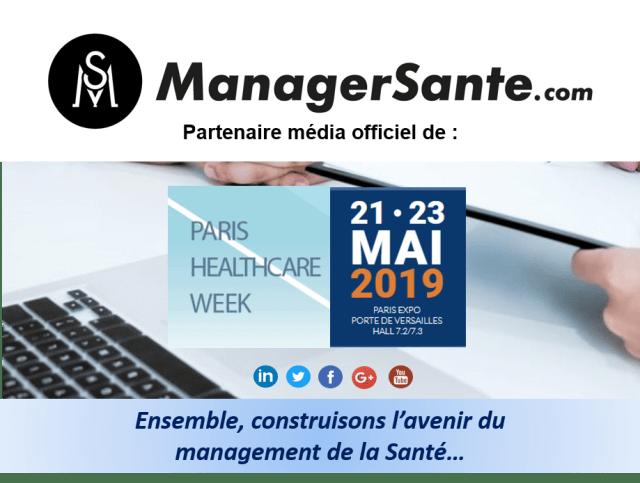 Bannière marketing PARIS HEALTHCARE WEEK 2019