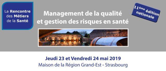 Management de la Qualité et de la gestion des risques en santé 23 et 24 Mai 2019