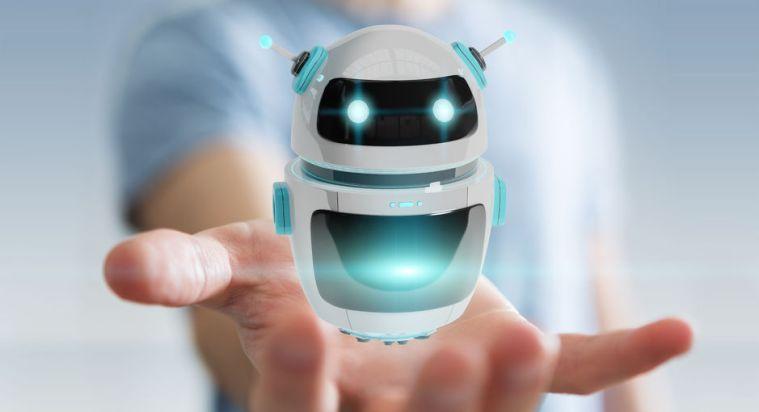 93256030 - businessman on blurred background using digital chatbot robot application 3d rendering