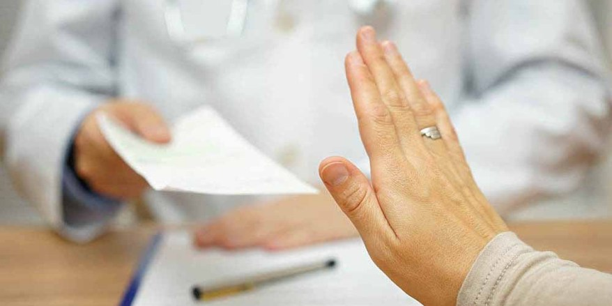 patient is refusing medical prescription for disease