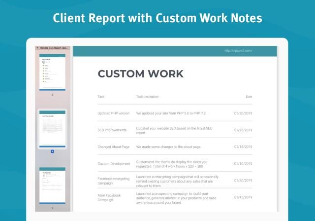 Custom Work Notes look