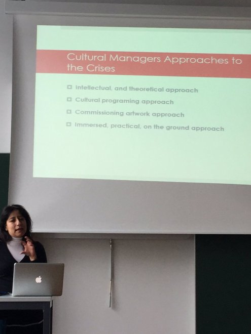 Exploring different case studies, Jana Al Obeidyine, critiqued the merits and shortcomings of models of practice for intercultural exchange.