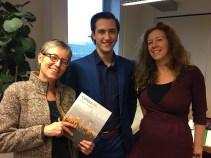 with Monique Arkesteijn and student assistant Jeroen Meijler