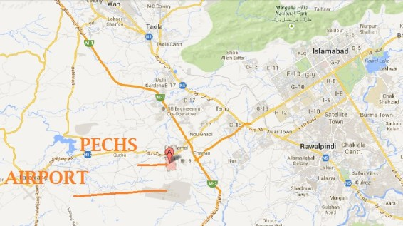 PECHS Islamabad Location