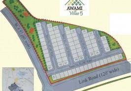 Bahria Town Awami Villas 5 Map