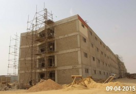 Bahria Town Karachi Building for Labor Under Construction