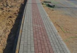 Bahria Town Karachi Midway Commercial Footpath Work