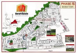 Bahria Town Phase 5 Rawalpindi Map